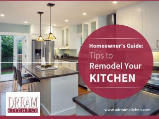 Simple Kitchen Remodeling Tips - Read Now!