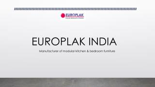 Europlak India - modular kitchen manufacturers India