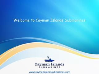 While In Cayman, Explore Life Under Sea In a Real Submarine!