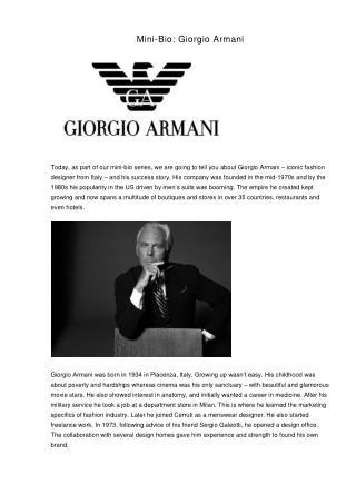Mini-Bio: Giorgio Armani