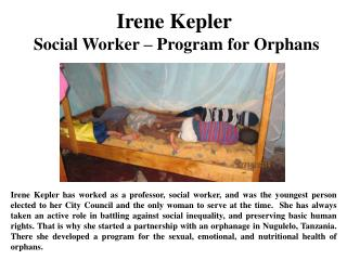 Irene Kepler  Social Worker – Program for Orphans