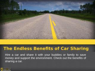 The Endless Benefits of Car Sharing