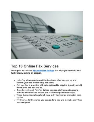 Free Fax Online Without Any Fax Machine