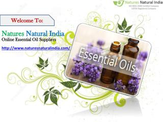 Send Online Pure Essential Oils at Natures Natural India