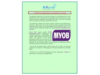 A MYOB Accounting Software can handle your Accounts
