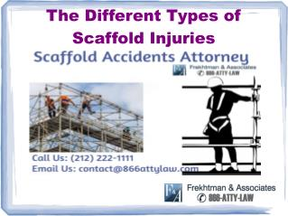 The Different Types of Scaffold Injuries
