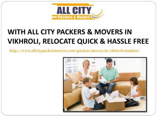 Packers and Movers in Vikhroli(Mumbai) - All City Packers and Movers�