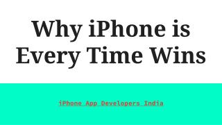 Why iPhone is Every Time Wins