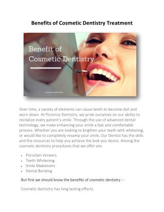 Benefits of Cosmetic Dentistry Treatment
