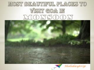 Most Beautiful Places to Visit Goa