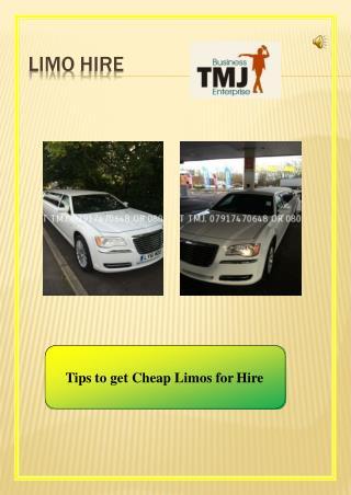 Cheap limo hire
