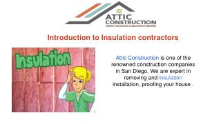 insulation contractors & Services