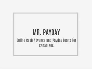Online Cash Advance and Payday Loans For Canadians
