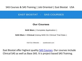 SAS Courses & SAS Training
