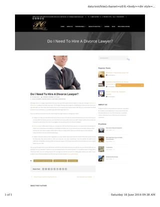 Do I Need To Hire A Lawyer For A Divorce in Edmonton?