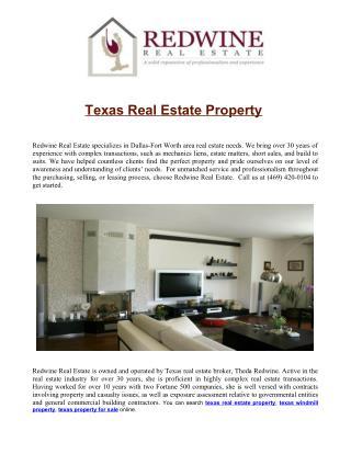 texas real estate property