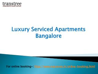Luxury serviced apartments Bangalore