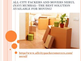 Packers and Movers in Nerul (Navi Mumbai) -All City Packers and Movers®