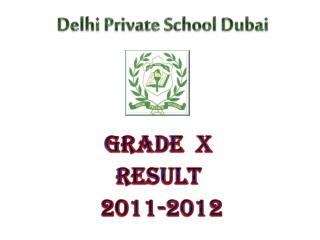 Grade  X  Result  2011-2012