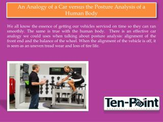 An Analogy of a Car versus the Posture Analysis of a Human Body