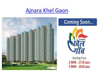 Ajnara New Project |Ajnara Khel Gaon |Ajnara Group