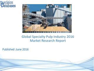 International Specialty Pulp Market 2016-2021
