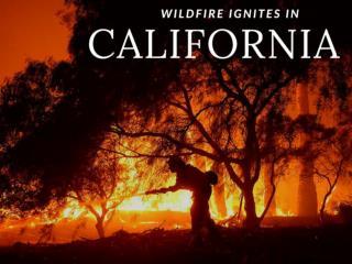 Wildfire ignites in California