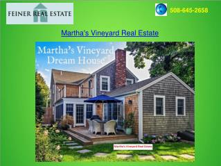 Martha's Vineyard Real Estate