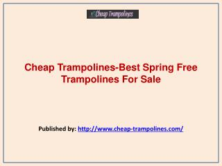 Best Spring Free Trampolines For Sale