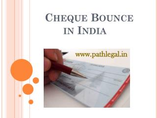 Cheque Bounce India | Cheque Rebound India