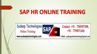SAP HR Online Training Hyderabad|USA|UK|
