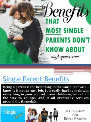 Benefits For Single Parents