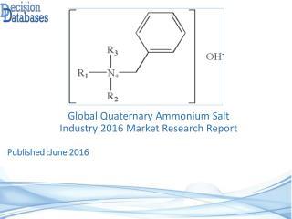 International Quaternary Ammonium Salt Industry 2016 Market Research Report