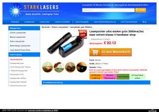 Laserpointer ultra starker grün 3000mw(3w) laser extrem klasse 4 handlaser shop