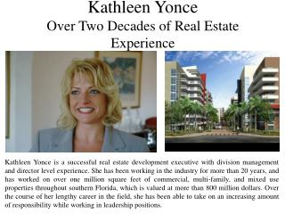 Kathleen Yonce Provides Tips for Working in Real Estate