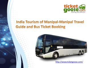 India tourism of manipal_Bus Tickets