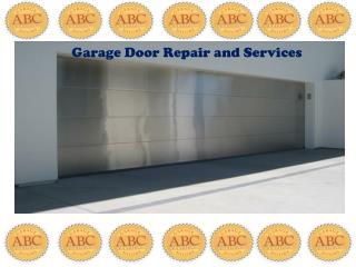 Garage door repair and services