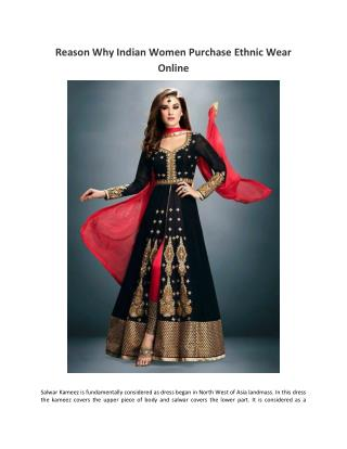 Reason Why Indian Women Purchase Ethnic Wear Online