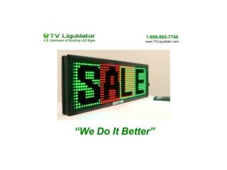 Scrolling LED Sign: Why it's considered A Smart Means to Advertise