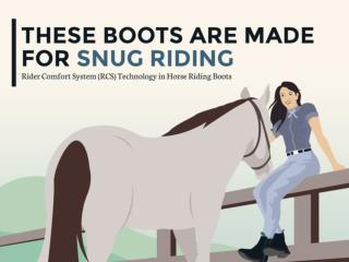 Rider Comfort System Technology in Horse Riding Boots