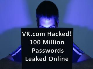 VK.com Hacked! 100 Million Passwords Leaked Online | CR Risk Advisory