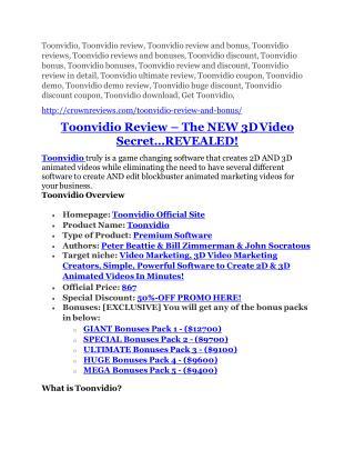 Toonvidio Review and Toonvidio (EXCLUSIVE) bonuses pack