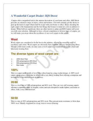 Designer Carpets Dealer|BJS Decor