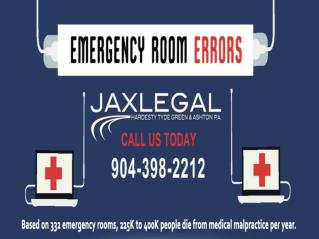 Emergency Room Errors Attorneys in Jacksonville