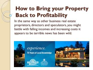 How to Bring your Property Back to Profitability