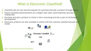 What is electronics classifieds?