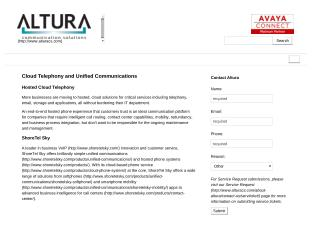 Cloud Based Telephony Solutions by Altura Communication Solutions