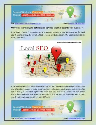 Why local search engine optimization services Miami has become essential for business?
