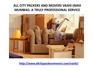 Packers and Movers in Vashi (Navi Mumbai) -All City Packers and Movers®